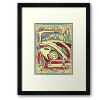 Vintage Seaside Bug Framed Print