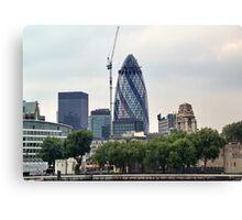 London Gherkin Canvas Print