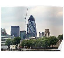 London Gherkin Poster