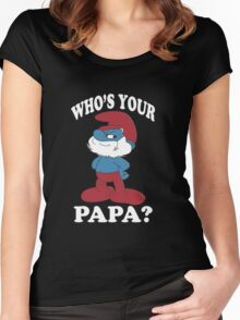 Papa Smurf Women's Fitted Scoop T-Shirt
