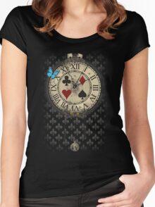 New adventure in Wonderland Women's Fitted Scoop T-Shirt