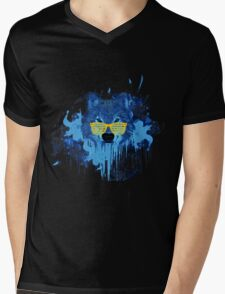 THE DUDE WOLF Mens V-Neck T-Shirt
