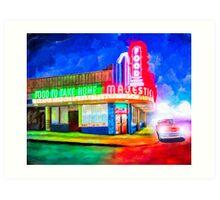 Atlanta's Majestic Diner At Night Art Print