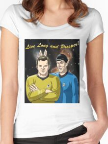 Star Trek - Kirk & Spock Women's Fitted Scoop T-Shirt