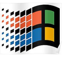 Vintage windows logo Poster