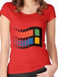 Vintage windows logo Women's Fitted Scoop T-Shirt