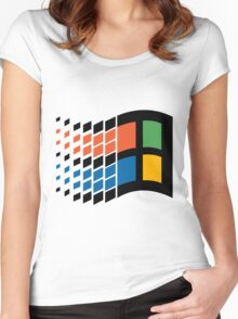 Vintage windows logo Women's Fitted Scoop T-Shirt