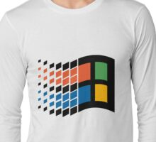 Vintage windows logo Long Sleeve T-Shirt