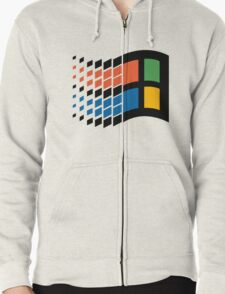 Vintage windows logo Zipped Hoodie