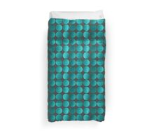 Emerald circles Duvet Cover