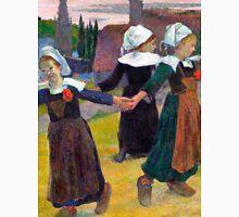 1888 - Gauguin - Breton Girls Dancing, Pont-Aven Unisex T-Shirt