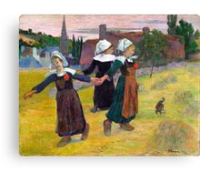 1888 - Gauguin - Breton Girls Dancing, Pont-Aven Canvas Print