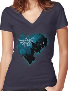 In the twilight Women's Fitted V-Neck T-Shirt