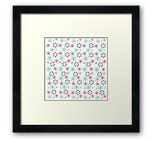 Tender flowers. Beautiful flower pattern. Framed Print