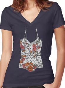Lingerie-2 Women's Fitted V-Neck T-Shirt