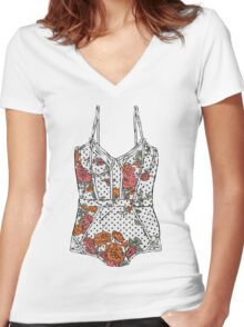 Lingerie-2 Women's Fitted V-Neck T-Shirt