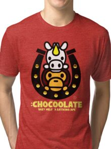 Chocoolate Baby Milo A bathing Ape Tri-blend T-Shirt