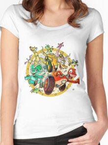 Dino Wheelies Women's Fitted Scoop T-Shirt