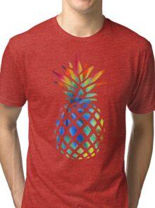 Hippy Pineapple - ONE:Print Tri-blend T-Shirt