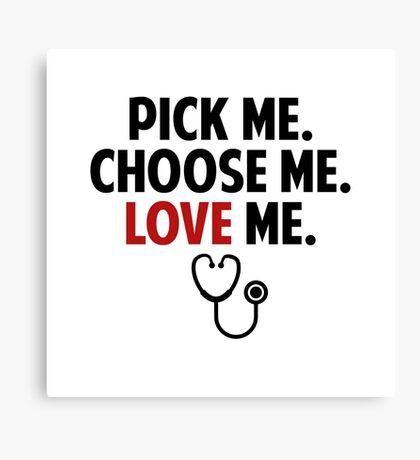 Grey's Anatomy - Slogan Canvas Print