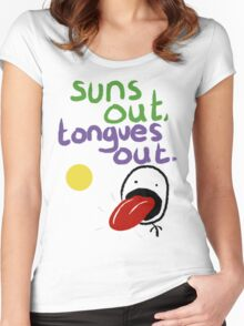 Sun's out, Tongues out Women's Fitted Scoop T-Shirt