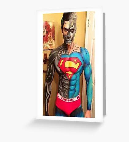 SUPER  MAN - DIESEL Greeting Card