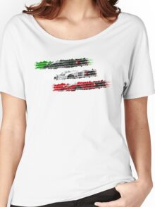 Ferrari F40 Tricolore Women's Relaxed Fit T-Shirt