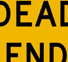 Dead End Warning, Road Sign, USA Sticker