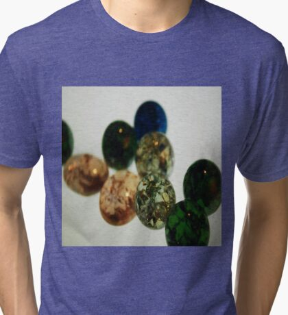 Cracked Marbles 5 Tri-blend T-Shirt