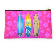 Pink Honu Born To Surf Studio Pouch