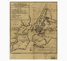 American Revolutionary War Era Maps 1750-1786 765 Plan of the attack on the provincial army on Long Island August 27th 1776 With the draughts of New York One Piece - Short Sleeve