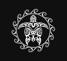White Tribal Turtle Unisex T-Shirt