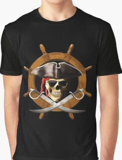 Pirate Wheel Graphic T-Shirt