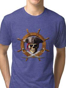 Pirate Wheel Tri-blend T-Shirt