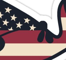 USA Whale Sticker