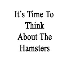 It's Time To Think About The Hamsters  Photographic Print