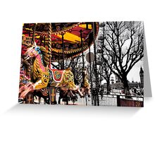 London and a horse... Greeting Card