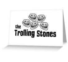 The Rolling Stones Troll Rock Music Funny T-Shirts  Greeting Card