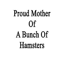 Proud Mother Of A Bunch Of Hamsters  Photographic Print