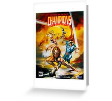 Eternal Champions repro poster Greeting Card