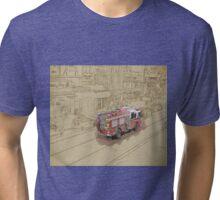NYC Fire Engine Tri-blend T-Shirt