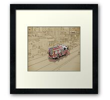 NYC Fire Engine Framed Print
