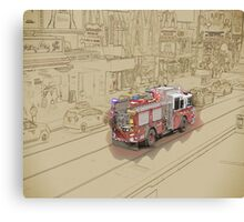NYC Fire Engine Canvas Print