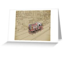 NYC Fire Engine Greeting Card