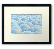 blue 3D Spheres crossover Framed Print