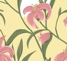 Lily floral pattern Sticker