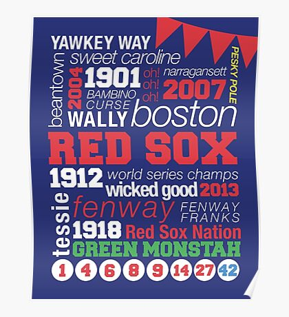 Boston Red Sox Typography Poster