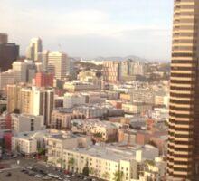 San Diego view Sticker