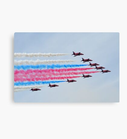 Red Arrows Over Lyme, Dorset.UK Canvas Print