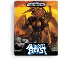 Altered Beast repro poster Canvas Print